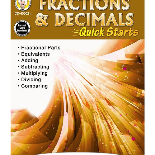 Fractions & Decimals Quick Starts 4-8