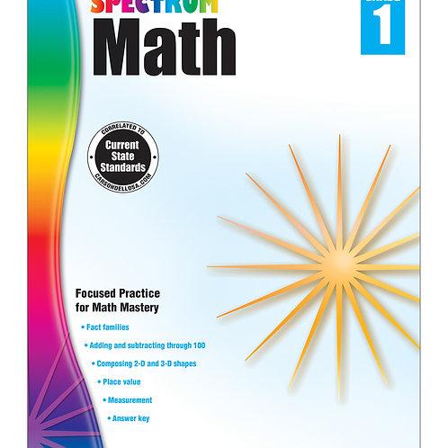 Spectrum Math Workbook Grade 1