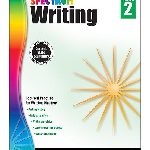Spectrum Writing Workbook Grade 2
