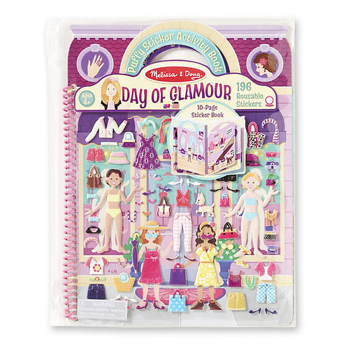Puffy Sticker Activity Book - Day of Glamour