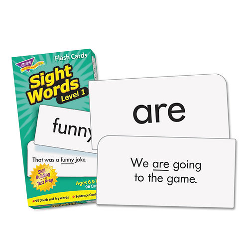 Sight Words – Level 1 Flash Cards