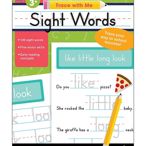 Trace with Me: Sight Words Activity Book