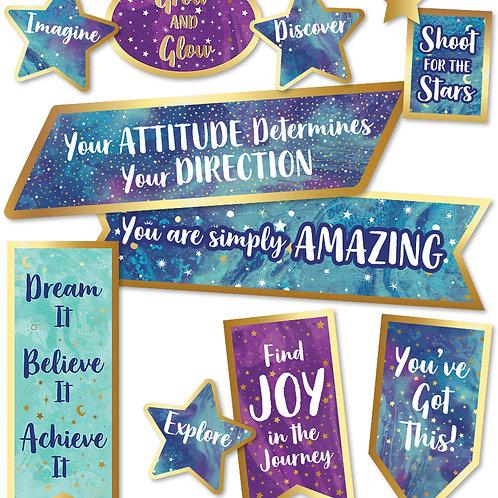 Motivational Signs Mini Bulletin Board Set