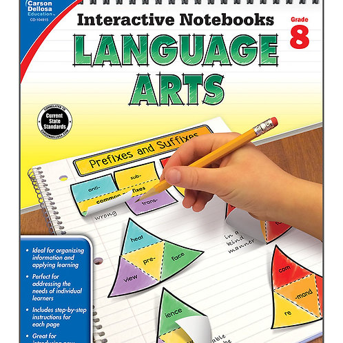 Interactive Notebooks: Language Arts Grade 8
