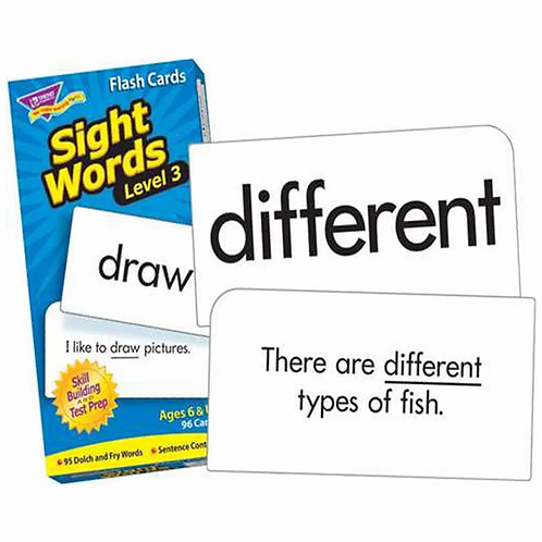 Sight Words – Level 3 Flash Cards