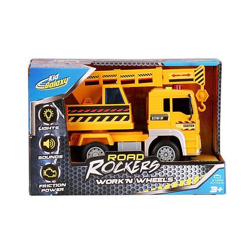 Kid Galaxy Road Rockers Crane Truck w/ Lights & Sounds