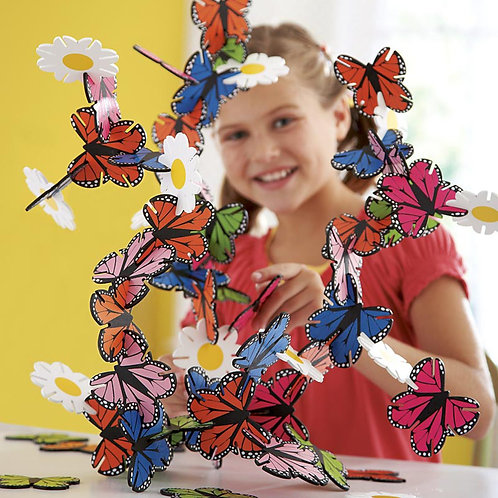 Connectagons 62-Piece Butterflies and Flowers Creative Building Set