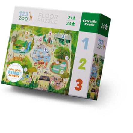 123 Zoo Floor Puzzle