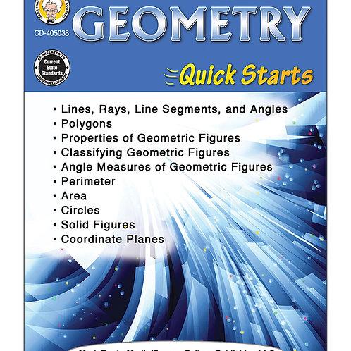 Geometry Quick Starts Grades 4-8