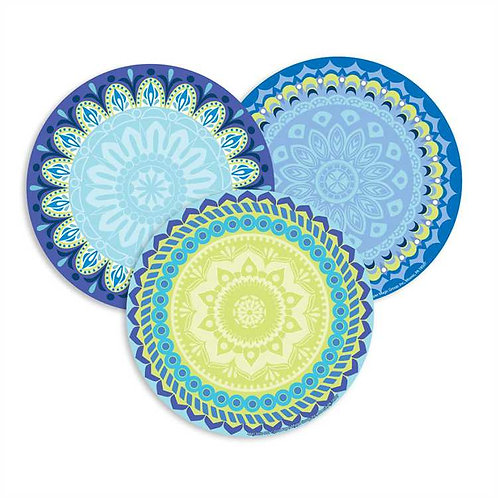 Blue Harmony Assorted Round Paper Cut Outs
