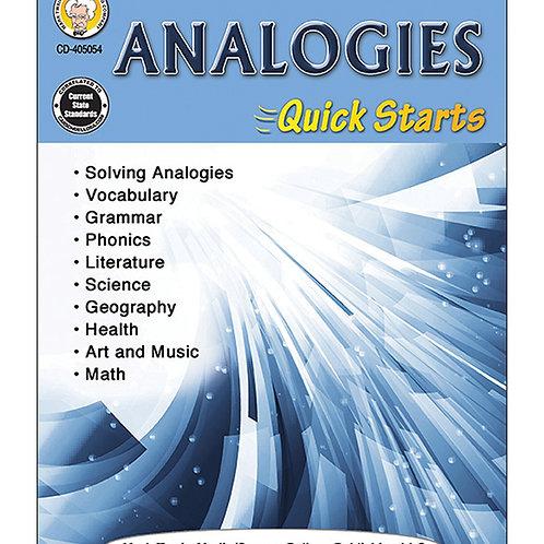 Analogies Quick Starts Grades 4-8