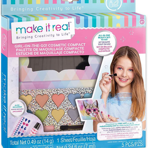 Make It Real Girl-on-The-Go Cosmetic Compact Makeup Kit