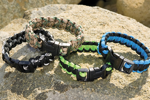 Survival Bracelet with Safety Whistle