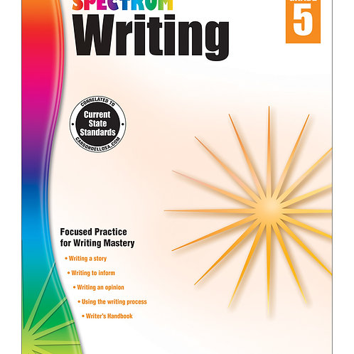 Spectrum Writing Workbook Grade 5