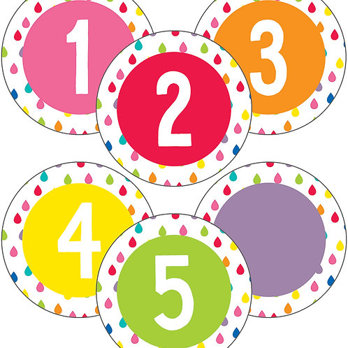 Hello Sunshine Student Numbers Mini Cut-Outs
