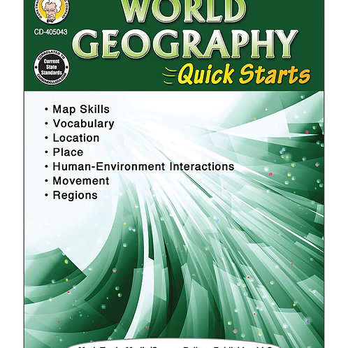 World Geography Quick Starters Grades 4-8