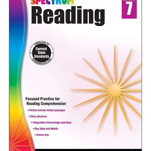 Spectrum Reading Workbook Grade 7