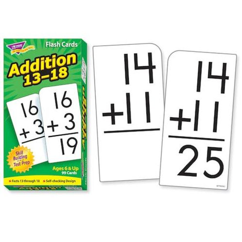 Addition 13-18 Flash Cards