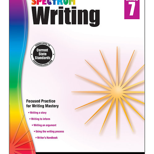 Spectrum Writing Workbook Grade 7