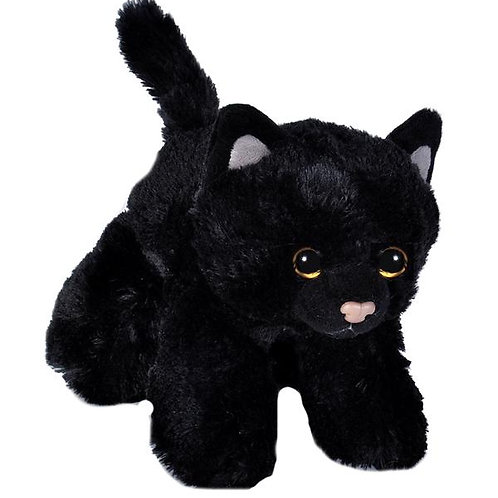 "Black Cat Stuffed Animal - 7"""