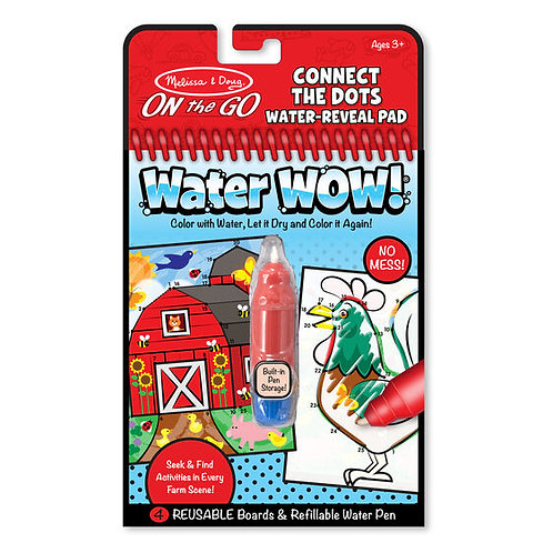 Water Wow! Farm Connect the Dots Water-Reveal Pad