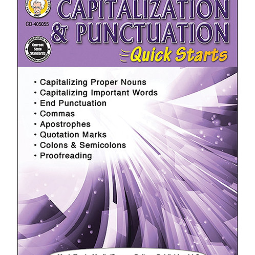 Capitalization & Punctuation Quick Starts