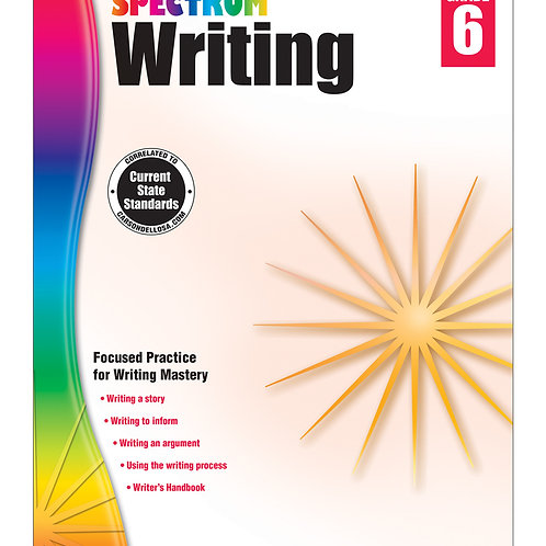 Spectrum Writing Workbook Grade 6
