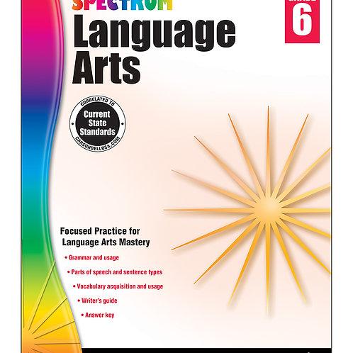 Spectrum Language Arts Workbook Grade 6