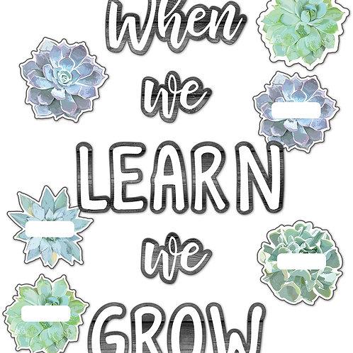 Simply Stylish When We Learn We Grow Bulletin Board Set