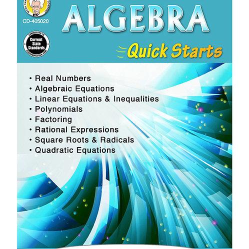 Algebra Quick Starts Grades 7+