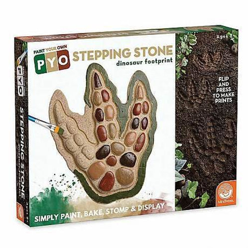 Paint Your Own Stepping Stone: Dinosaur Footprint Image Thumbnail 1 Paint Your