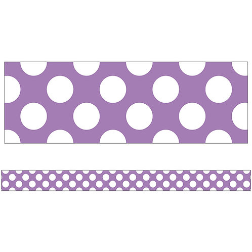 Purple with Polka Dots Straight Borders