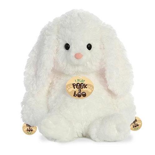 "Peek A Boo - 12"" Bunny White"