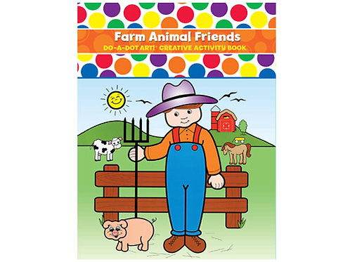 Farm Animal Friends Do A Dot Art Coloring Book