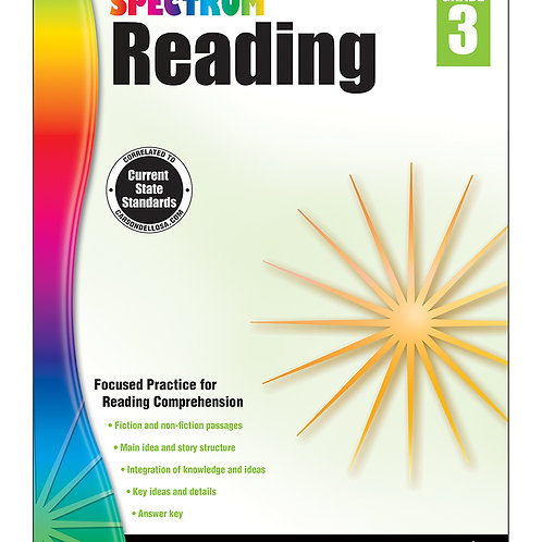 Spectrum Reading Workbook Grade 3