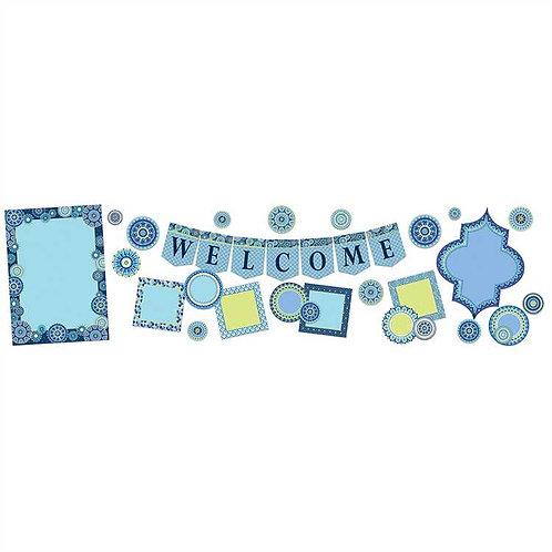 Blue Harmony Welcome Bulletin Board Set