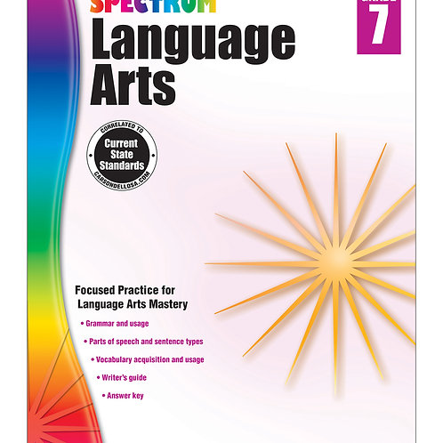 Spectrum Language Arts Workbook Grade 7