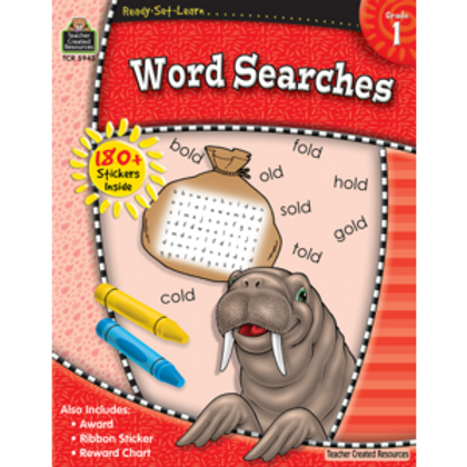 Ready-Set-Learn: Word Searches Grade 1