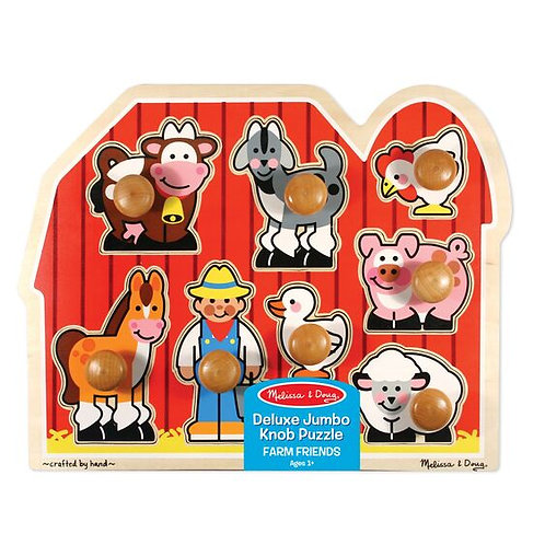 Deluxe Jumbo Knob Puzzle: Farm Friends