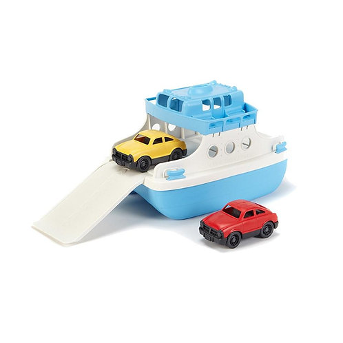 Green Toys Ferry Boat and mini vehicles