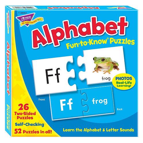 Alphabet Fun-to-Know® Puzzles