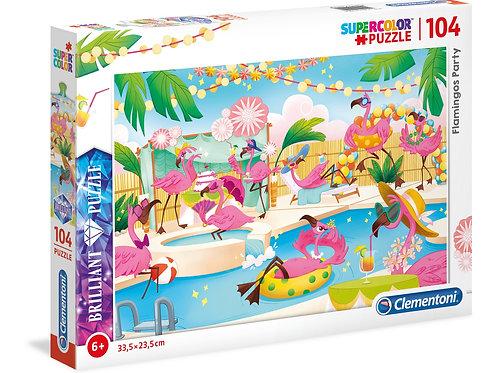 Flamingos party - 104 pcs