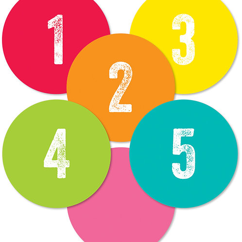Woodland Whimsy Student Numbers Mini Cut-Outs