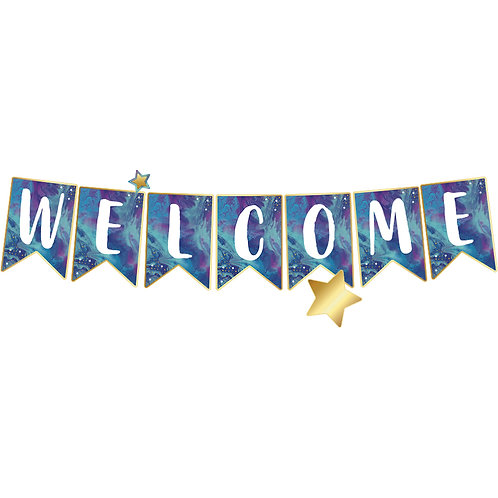 Galaxy Welcome Bulletin Board Set