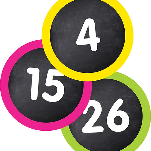 Student Numbers Mini Cut-Outs