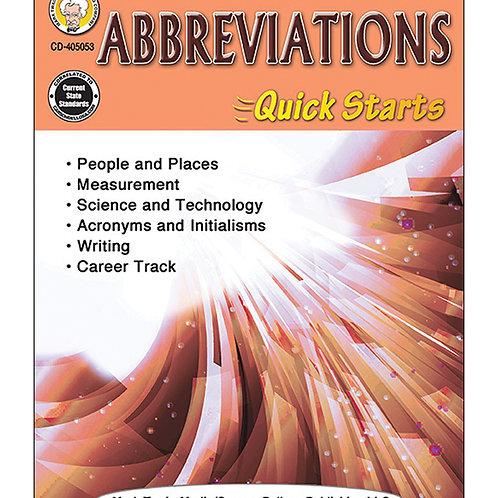Abbreviations Quick Starts Grades 4-8