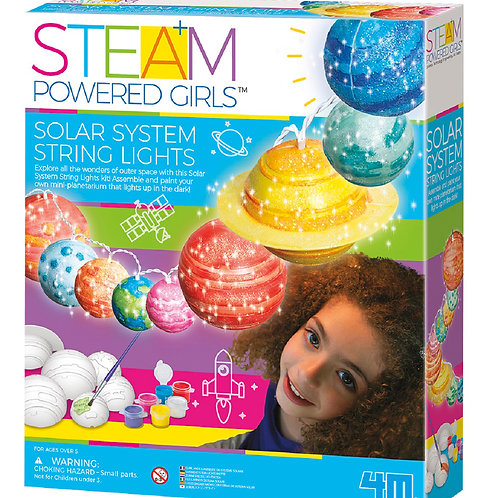 Steam Powered Girls Solar System String Lights