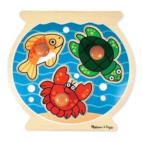 Jumbo Knob Puzzle: Fish Bowl