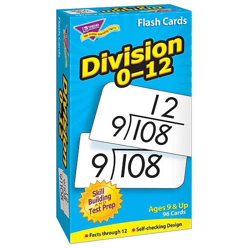Division 0-12 Skill Drill Flash Cards