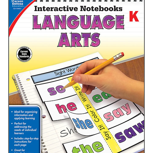 Interactive Notebooks: Language Arts Grade K